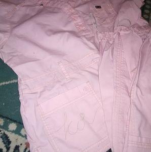 Other - Koi Womens large pink scrubs Set